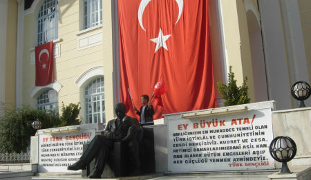 Ataturk and Turkish Flag