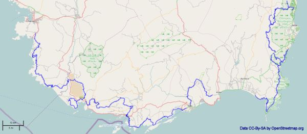 Map of the Lycian Way