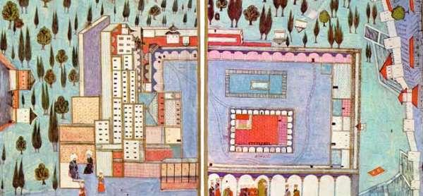 Ottoman Miniature Showing Topkapı Palace