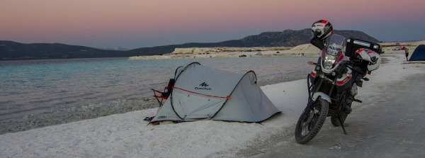Camping by the Lake Salda