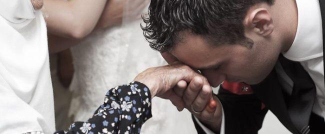 Turkish Hand Kiss on the Forehead