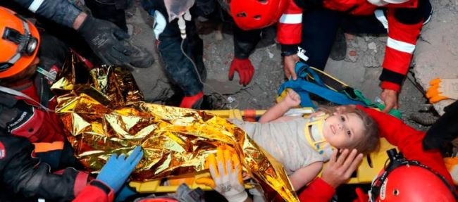 2-year-old girl has been rescued in Turkey, and she asked for her mother