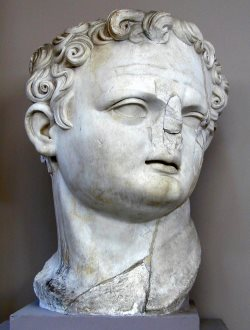 Giant Bust of Emperor Domitian in Ephesus Archeological Museum