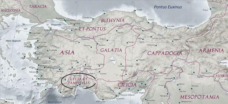 Lycia et Pamphylia Province of Roman Empire