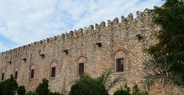 Exterior of Okuz Mehmet Pasa Caravansary in Kusadasi