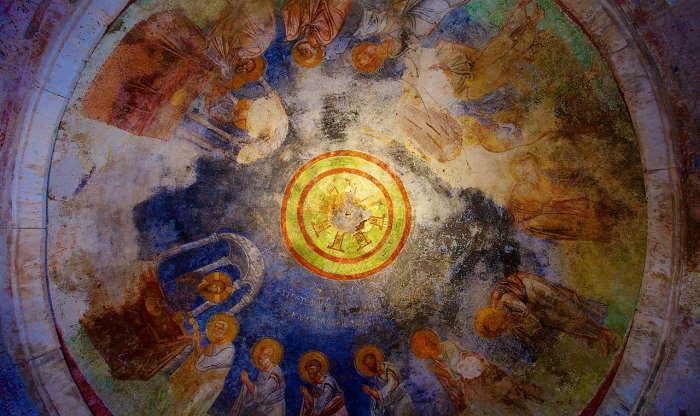 Ceiling fresco of Saint Nicholas Church