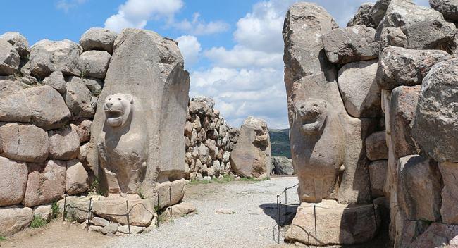 Lion Gate in Hattusa of Hittite Empire