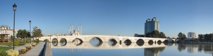 World's Oldest Bridge in Use in Turkey Connecting Two Sides of Seyhan River in Adana