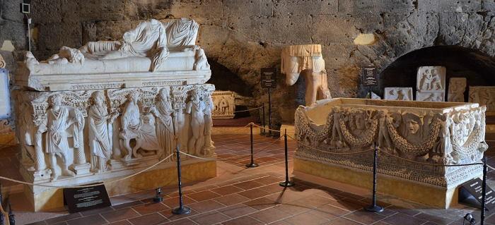 Exhibits in Hierapolis Museum