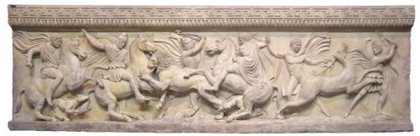 Panels Showing Persians and Greeks Hunting Together