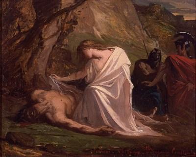 antigone peinture Benjamin-Constant  Antigone et Polynice