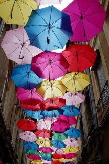 ombrelle multicolore avignon