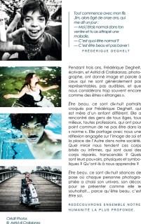 Être beau, Frédérique Deghelt, Astrid di Crollalanza