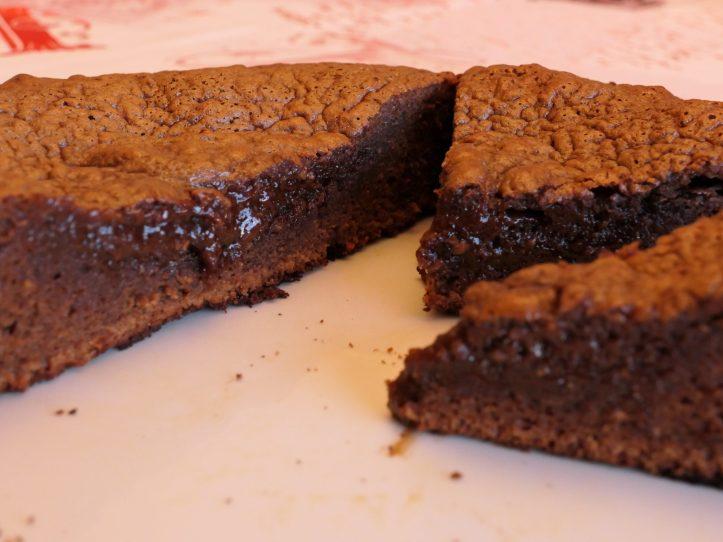 Recette moelleux chocolat praliné noisette  coeur coulant