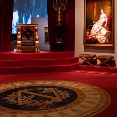 Visite de l'exposition Napoléon La Villette scénographie