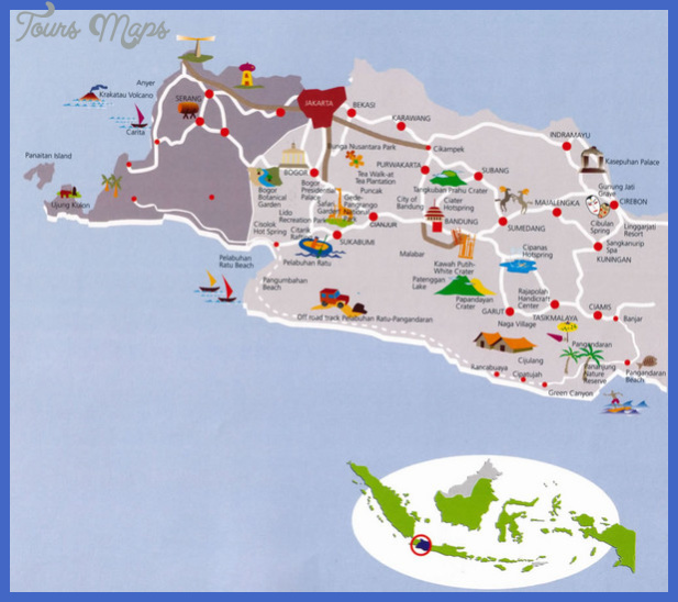 Indonesia Map Tourist Attractions Toursmaps Com