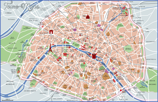 Map Of Major Attractions In Paris France a map of the top tourist – Paris France Tourist Attractions Map