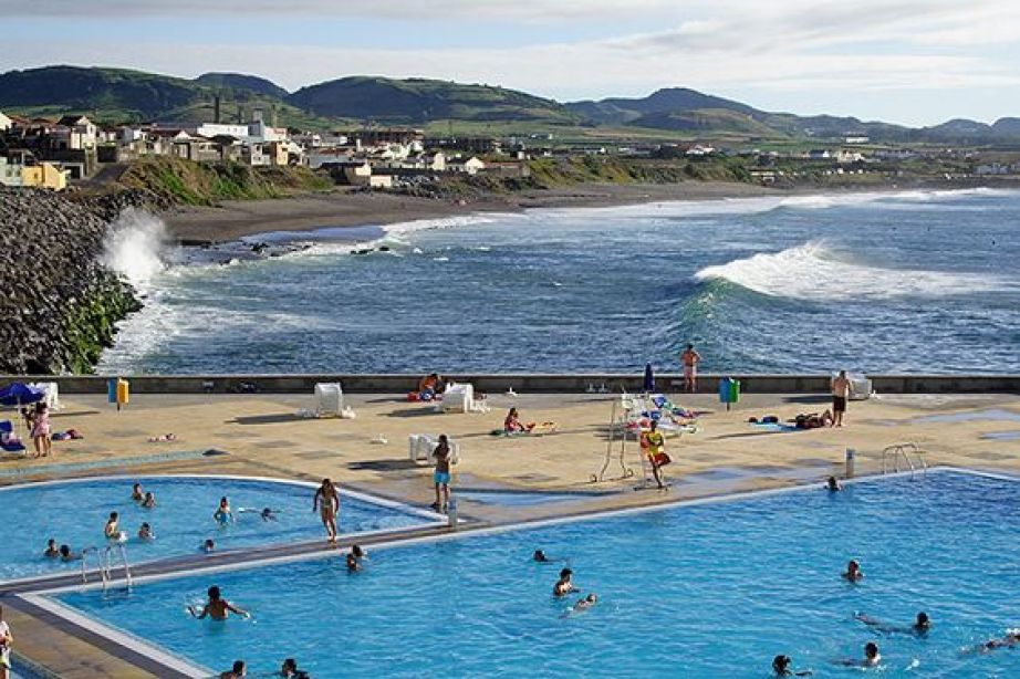 azores islands ocean pools summer beach in ribeira grande nature tour