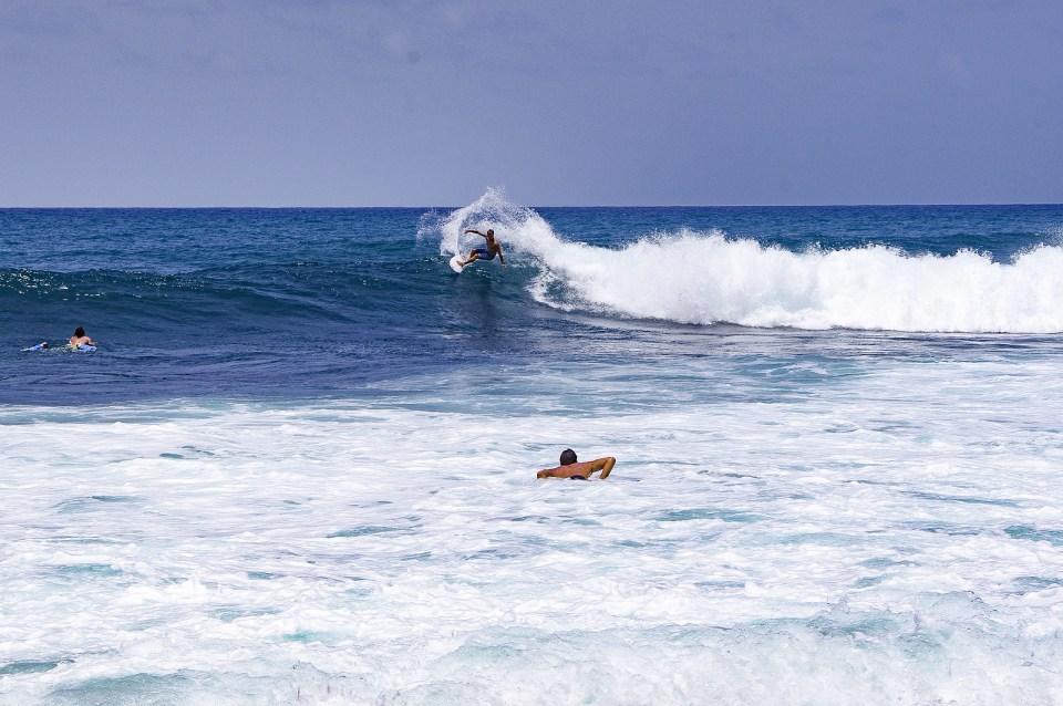 portuguese madeira island surf body boarding beach