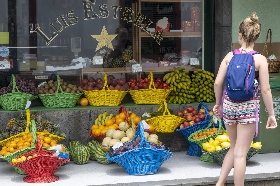 Sao Miguel Azores Fruit Store