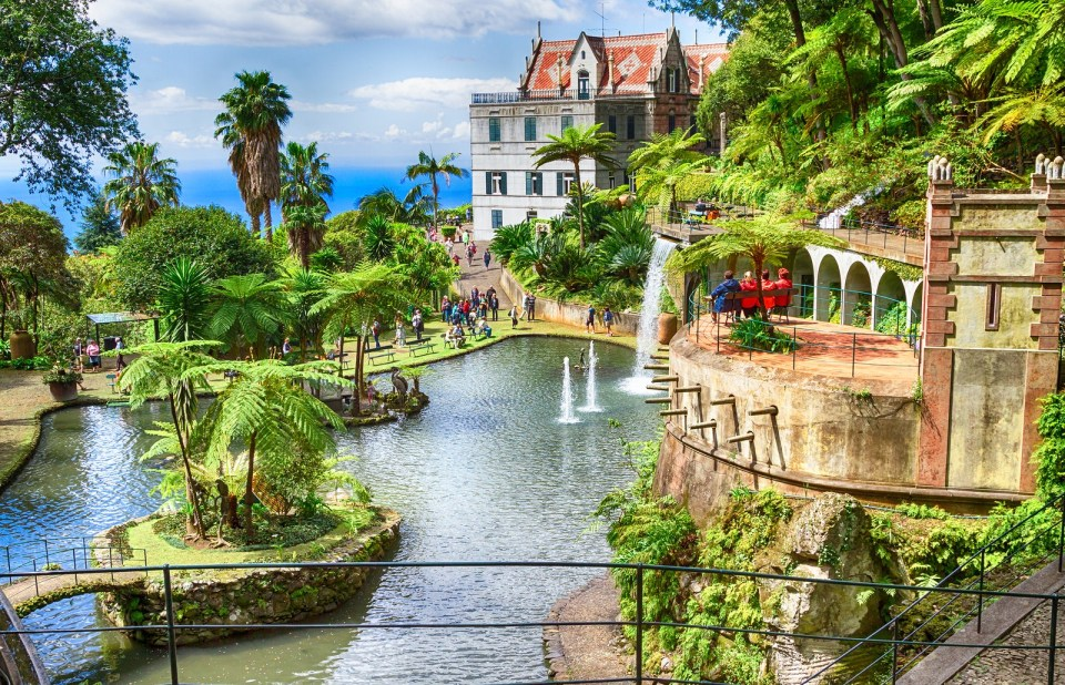 Scenic of Monte Palace Tropical Garden. Funchal Madeira Island P