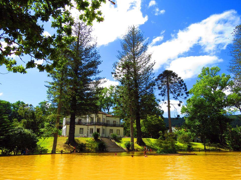 thermal hot springs furnas sao miguel island azores garden geysers