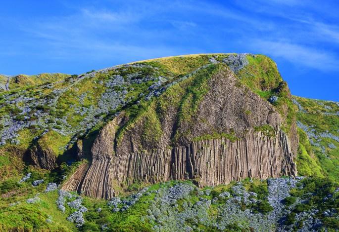 Rocha dos Bordoes in Flores Island, Azores, Portugla, Europe