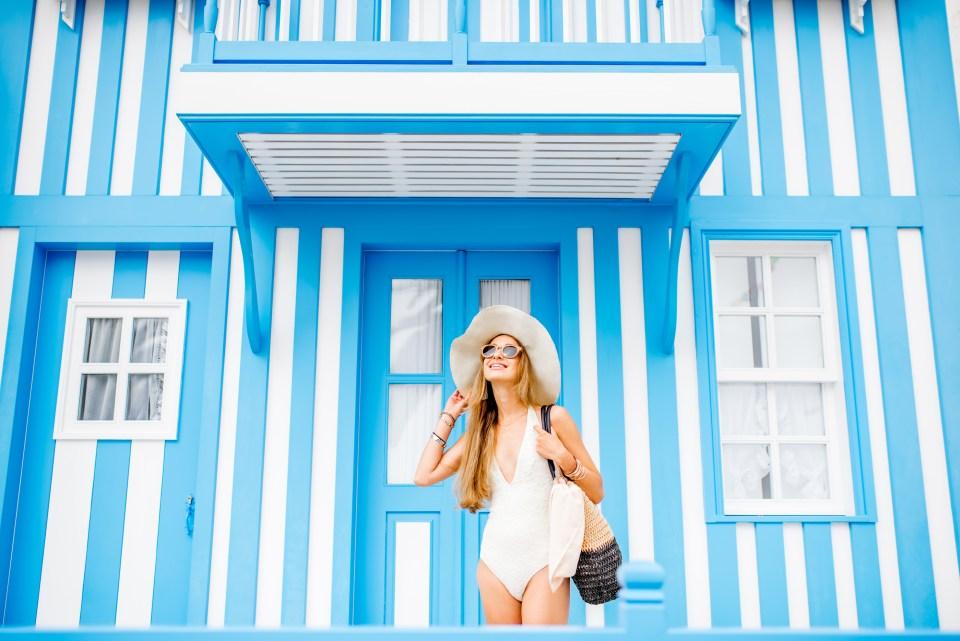 portuguese beach rental aveiro lisbon blue house on sand