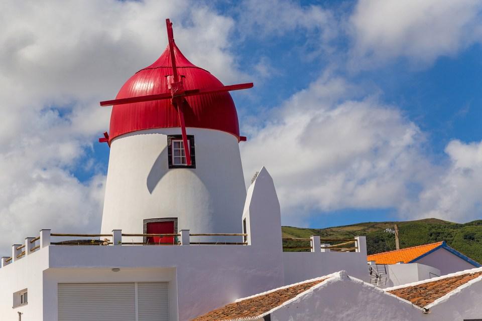 graciosa windmills azores islands