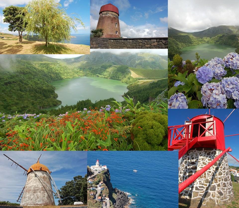 windmills azores islands