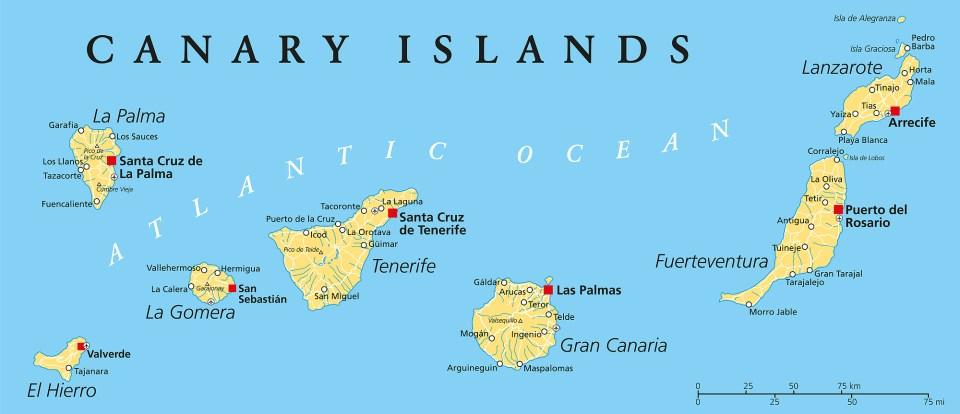 Macaronesia islands canary spain atlantic