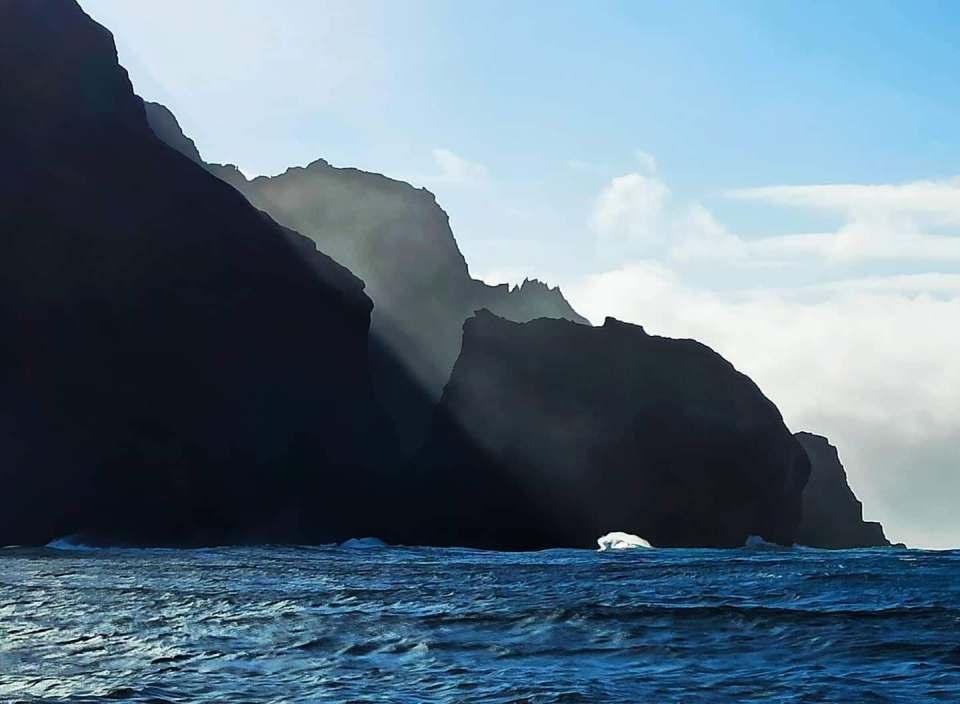 Corvo Black Island in the Azores Cave Entrance