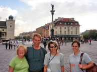 2006 - Larry and his family from the US Warsaw tour