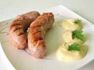 White sausage and horseraddish