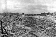 The ruins of the Warsaw Ghetto
