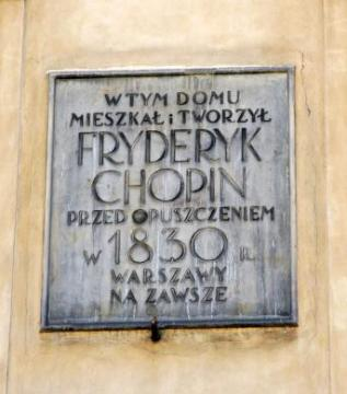Czapski Palace - the last Chopin's appartment in Warsaw