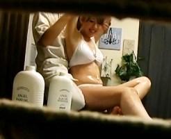 【オイルエステ盗撮動画】巨乳グラビアアイドルの卵が来店…ぬるぬる全身の美少女にセックス誘導ww