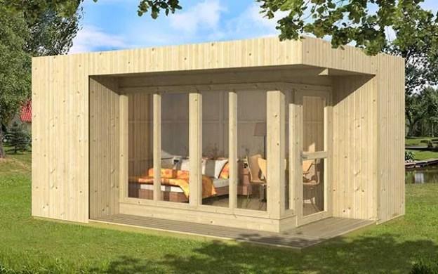bureau de jardin panneaux bois