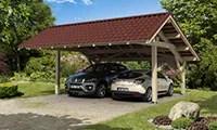 carport toit plat, double pente, 1 voiture, 2 voitures
