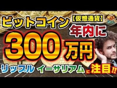 【仮想通貨】ビットコイン年内に300万円!?リップル・イーサリアムに注目!【投資家プロジェクト億り人さとし】