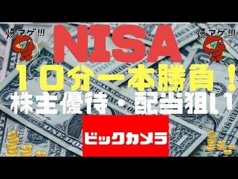 【株式投資初心者向け】NISA口座でおすすめ株主優待銘柄:ビックカメラ