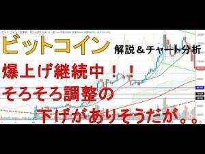 【仮想通貨 ビットコイン(BTC)】爆上げ継続!!そろそろ調整の下げがきそうだが。。。今後のシナリオをチャート分析1.15