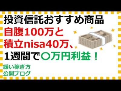 投資信託初心者におすすめの銘柄100万円運用するブログ(1週目)