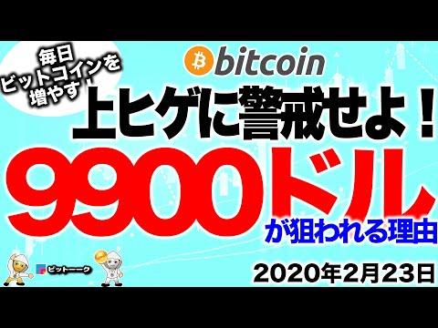 【ビットコイン 仮想通貨】9900ドルが狙われている理由!上ヒゲに警戒せよ!【2020年2月23日】BTC、ビットコイン、XRP、リップル、仮想通貨、暗号資産、爆上げ、暴落