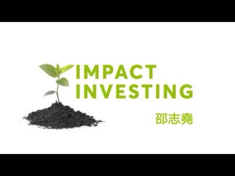 #邵志堯 什麼是Impact Investment 績效投資 (ESG)