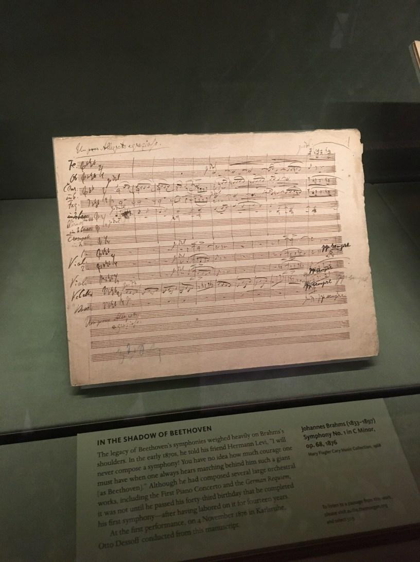 A score by Brahms