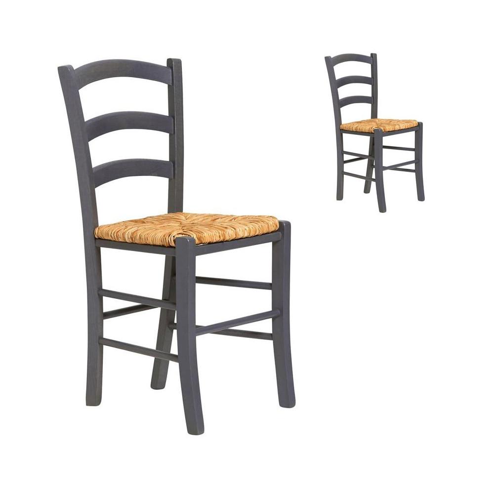 duo de chaises grises claires bois paille octave