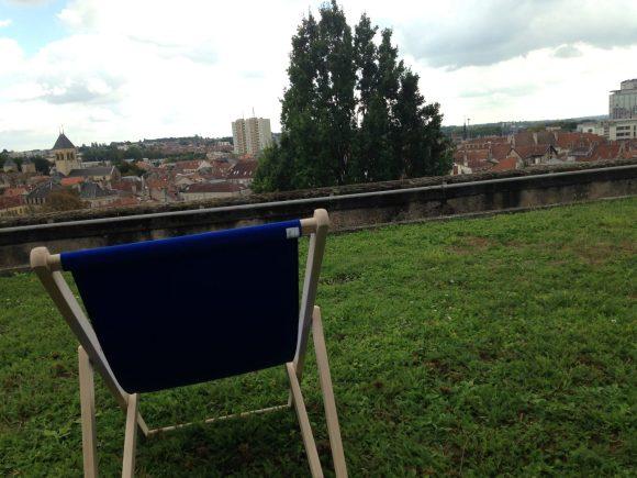 La vue depuis le jardin suspendu du Cloître des Récollets - Photo : Tout-Metz.com