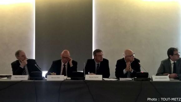 De g. à d. : Roger Cayzelle, Marcel Czaja, Patrick Tassin et Gilbert Krausener.