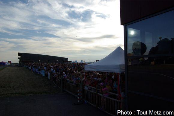 La foule s'était présentée en masse samedi 1er août à Lorraine Mondial Air Ballons, pour assister à l'envol du soir.